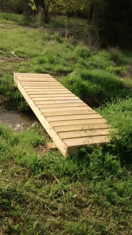 how to build a small bridge over a creek