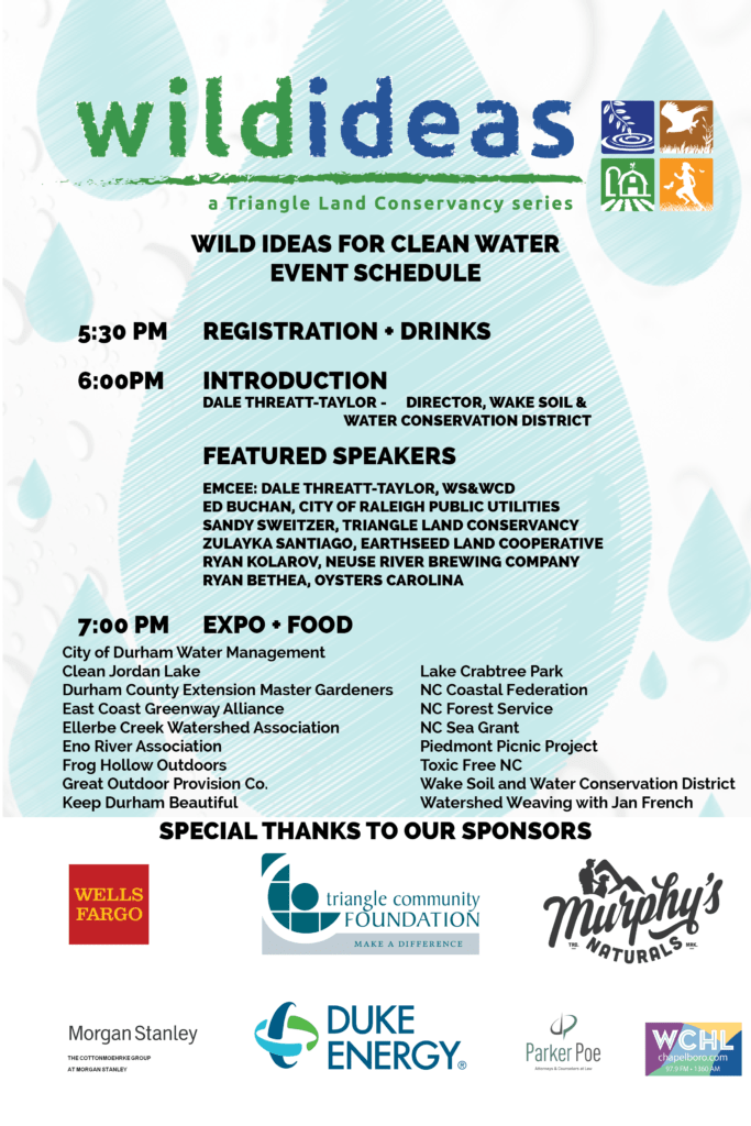 Wild Ideas For Clean Water On June 27th Triangle Land Conservancy
