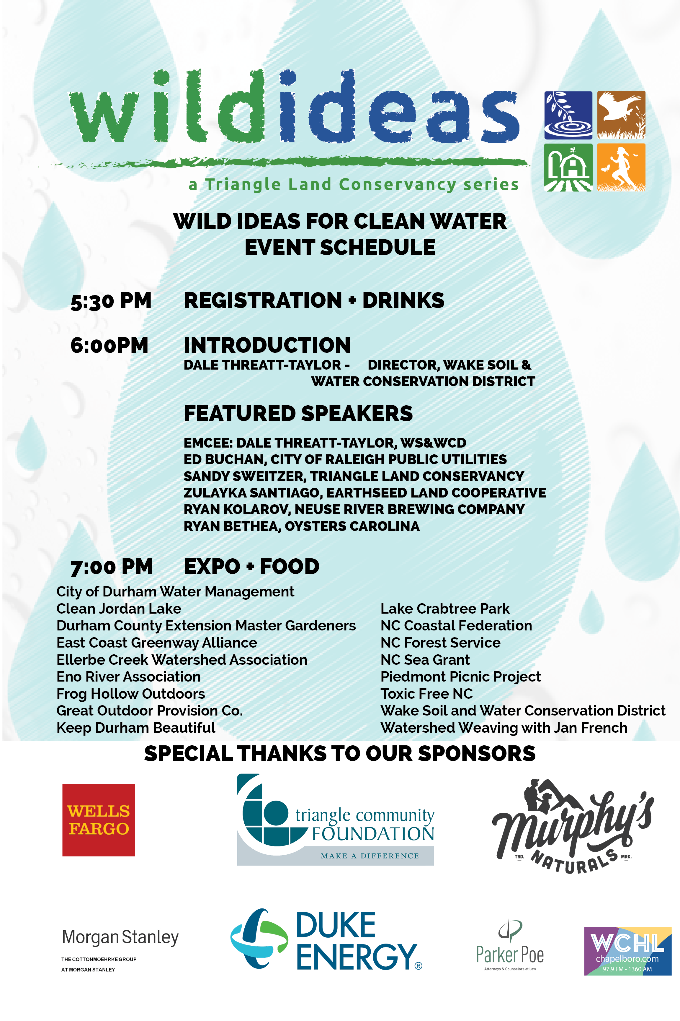 Triangle Land Conservancy Will Host Another Installment Of Its Wild Ideas Series For Clean Water Be On June 27 2017 At The Frontier